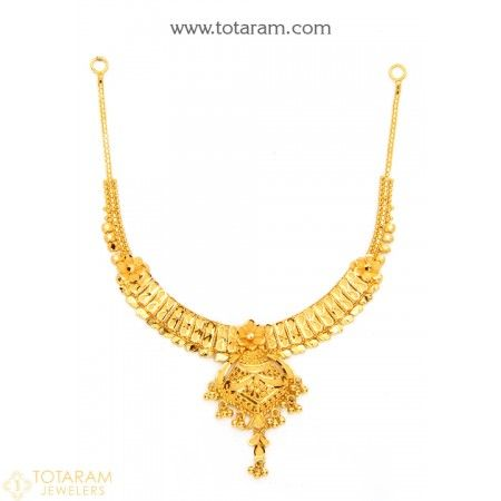 22K Gold Necklace for Women - 235-GN1886 - Buy this Latest Indian Gold Jewelry Design in 16.750 Grams for a low price of  $923.49