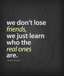 Sad Friendship Quotes | Sad Friendship Quotes - We dont lose friends - I would…