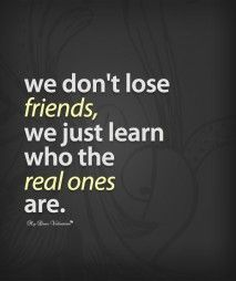 Sad Friendship Quotes | Sad Friendship Quotes - We dont lose friends - I would…