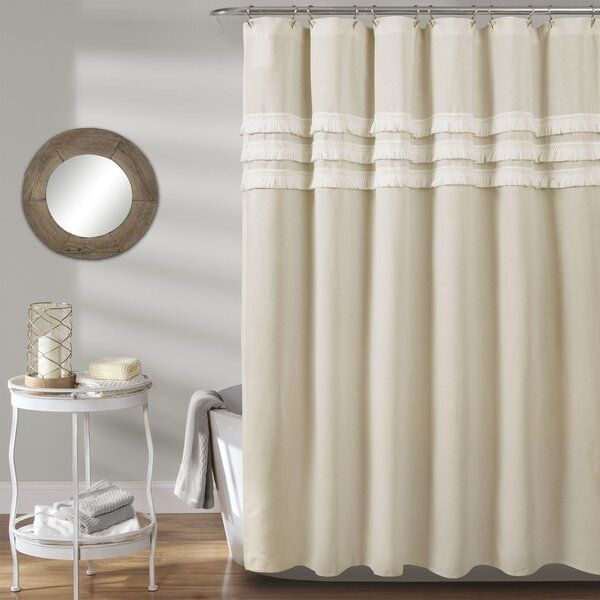 This Simple Yet Elegant Shower Curtain Offers A Textured Design To Update Your Master Bathroom Or Guest Bat In 2020 Neutral Curtains Lush Decor Elegant Shower Curtains