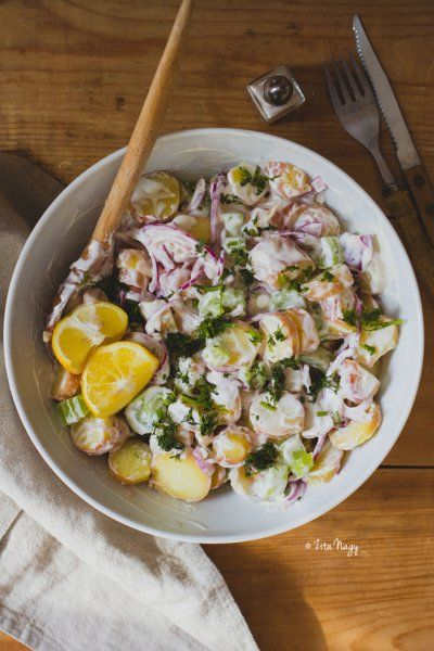 Vegán citromos kapros zelleres majonézes burgonya saláta by Zizi kalandjai