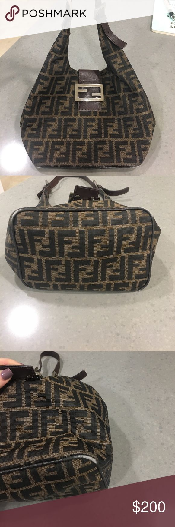 Fendi Purse 💯 authentic- used Real Fendi Bag. Minor worn edges on bottom of bag at the four corners. Great bag! I loved it- just don't use it enough Fendi Bags Shoulder Bags