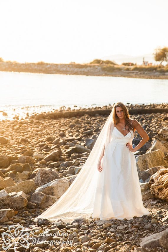 Plus Size Wedding dress Modern Simple by PureMagnoliaCouture