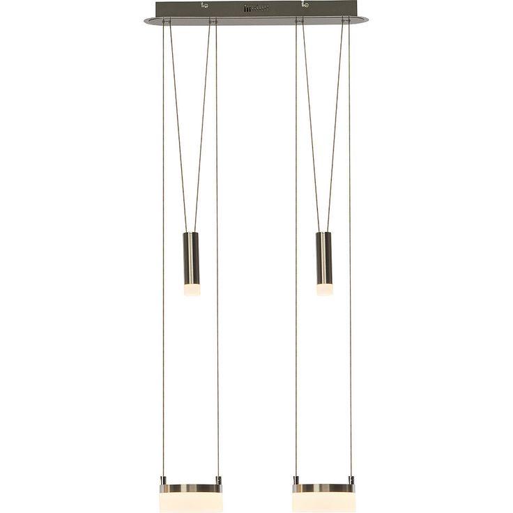 Cool Brilliant Leuchten Better LED Pendelleuchte flammig h henverstellbar eisen wei Jetzt bestellen unter https moebel ladendirekt de lampen