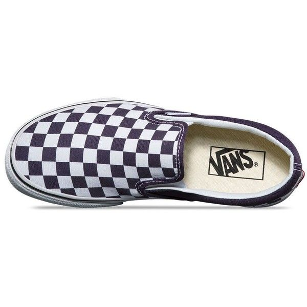 Vans Checkerboard Slip-On ($50) ❤ liked on Polyvore featuring shoes, sneakers, slip on shoes, pull on sneakers, rubber slip on shoes, vans shoes and slip-on sneakers