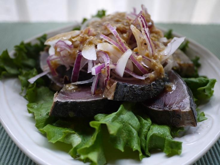 Japanese food  Seared bonito
