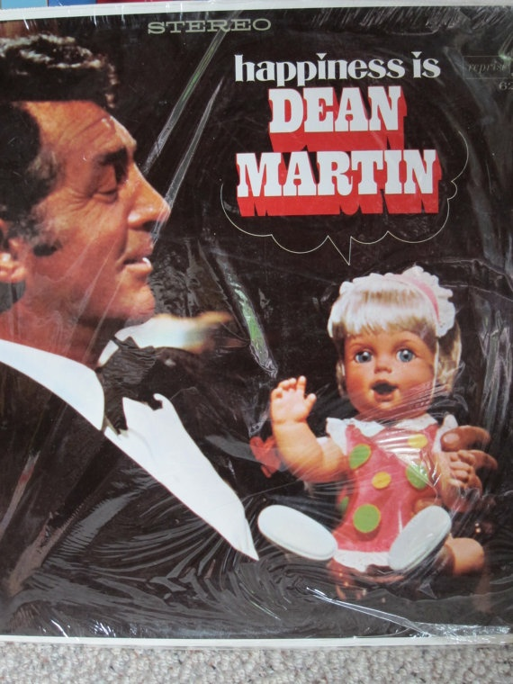 Vintage Vinyl Happiness is Dean Martin LP by herbivorous on Etsy, $5.00