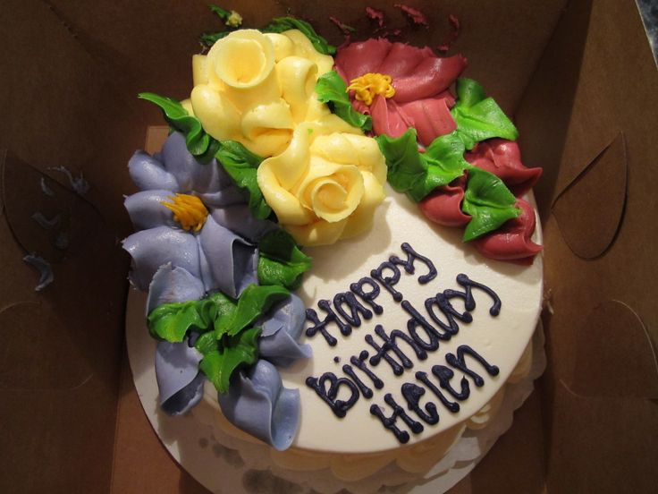 Colorful Flowers Birthday Cake Flowers Garden Birthday Party