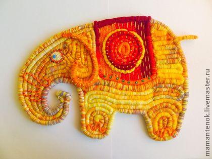Солнечный Слон - жёлтый,слон,декор для интерьера,декоративное панно,фен-шуй