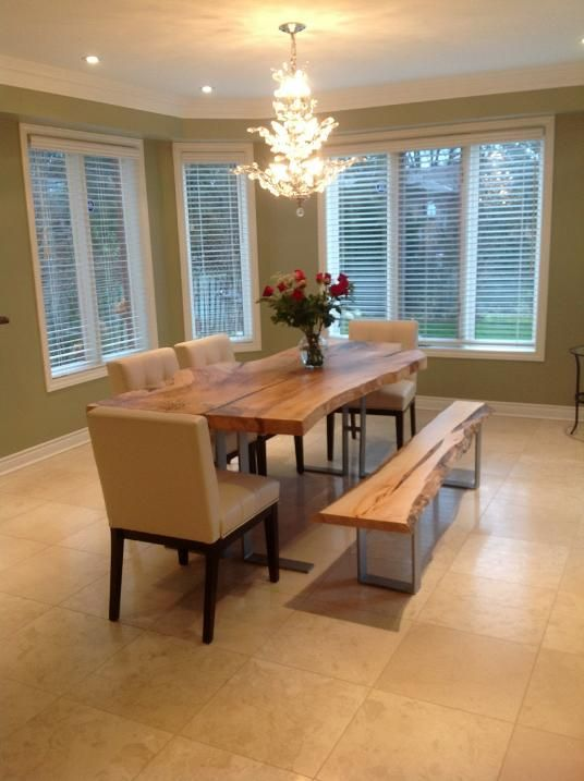 best Wood Slab Dining Tables  on Pinterest
