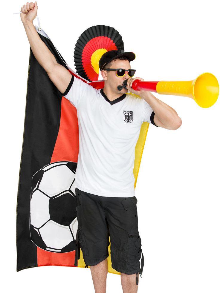 Deutschland Fussball Fanset Stadion 4-teilig schwarz-rot-gelb. Aus der Kategorie Fußball Fanartikel. Mit diesem genialen Deutschland-Fanset sorgen Sie für gute Stimmung im Stadion oder auf der Fanmeile. Pflicht für jeden Deutschland Fußball Fan!