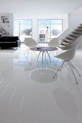 markland ikea white highgloss floor