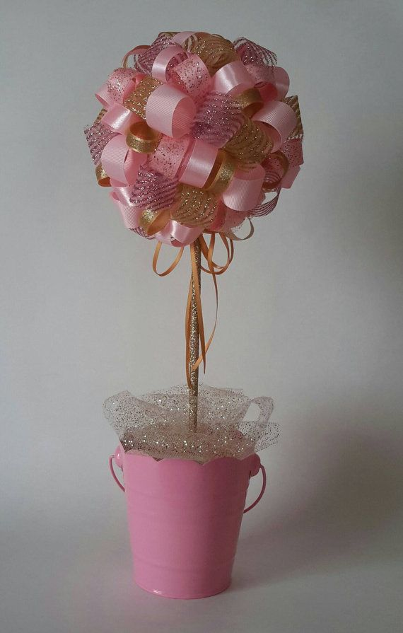 Pink and Gold Centerpiece. Girl Birthday Party. Quinceanera Decoration.