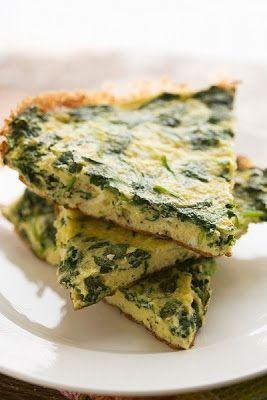 Tortilla de espinacas, fácil, baja en calorías, saludable y rica. Recetas con espinacas. Recetas saludables. Ver la receta -->> http://mundoreceta.blogspot.com/2013/05/tortilla-de-espinaca-al-horno-facil.html