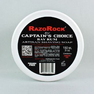 RazoRock for Captain's Choice bay rum artisan shaving soap