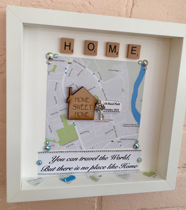 house warming gift new home gift new home frame new home map frame map and key frame