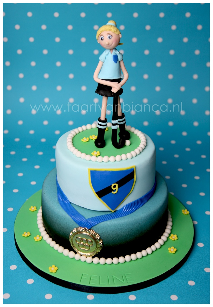hockey girl, cake made by taart van Bianca