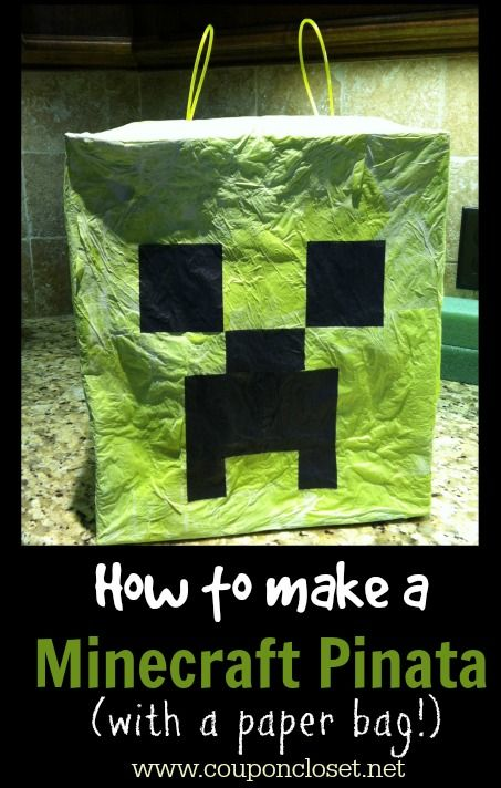 How to Make a Minecraft Pinata - Cute idea for a Minecraft Party if you have kids that love Minecraft