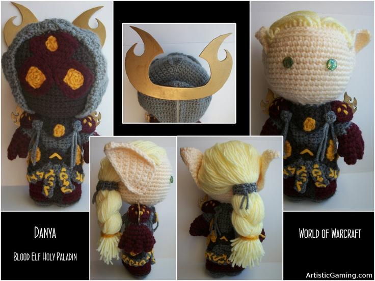 Please someone give me $90. (kidding. sort of) // World of Warcraft Custom Alliance or Horde Sackdoll. $85.00, via Etsy.: Custom Alliance, Horde Sackdol, 85 00, Crochet Amigurumi, World Of Warcraft, 8500, Crochet Things, Warcraft Custom