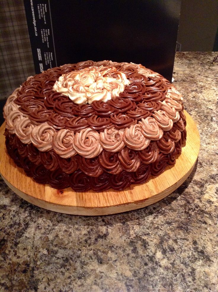 Chocolate rosette cake, just because.