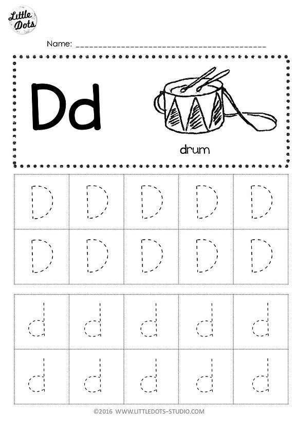 Free Printable Letter D Worksheets For Preschool