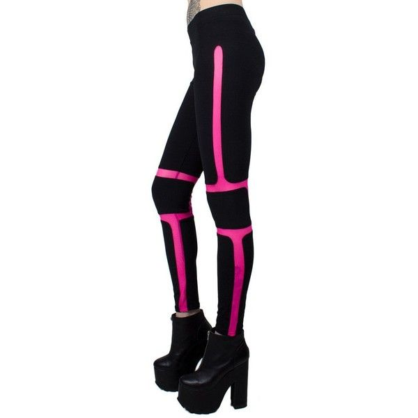 PROTECTION LEGGING ($63) ❤ liked on Polyvore featuring pants, leggings, stretch pants, mesh panel leggings, spandex pants, mesh insert leggings and stretch leggings