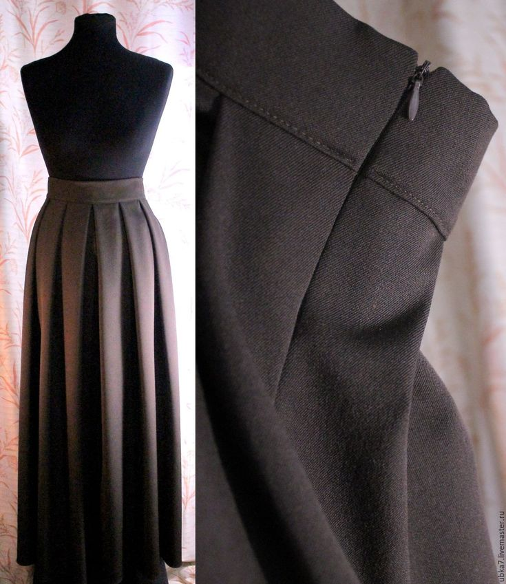 Купить Юбочка макси - коричневый, юбка макси, юбка в пол, юбка, женская одежда, платье