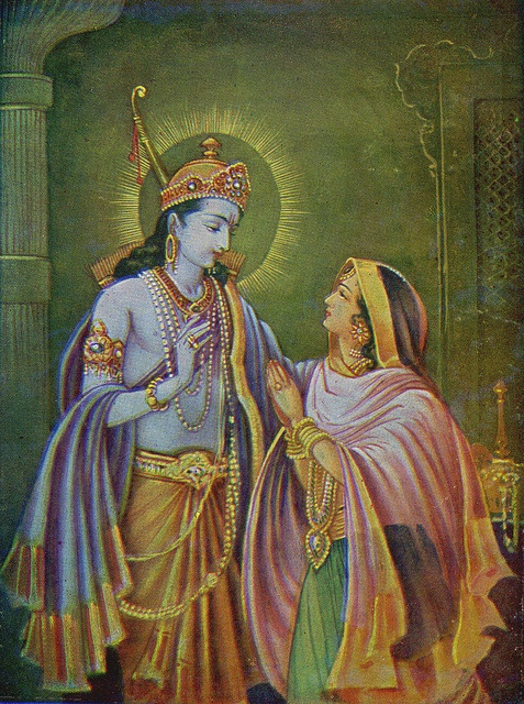 "Rama and Sita, ""Sita"" is celebrated as the ideal chaste Hindu wife and is the wife of Rama. The word ""Sita"" means ""the line made by a plow"" and is also the name of a divine female associated with agriculture."