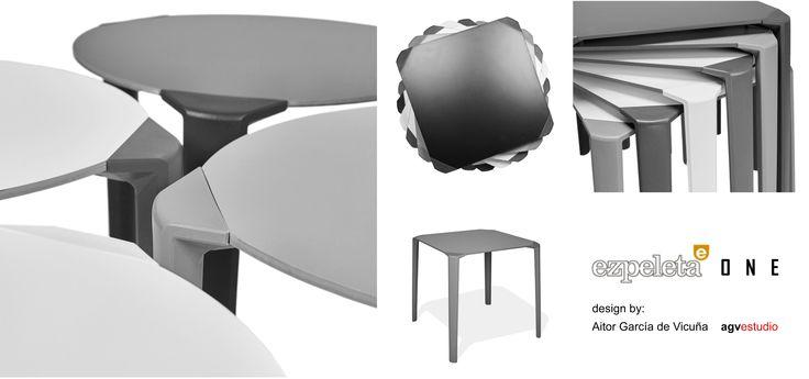 Mesa ONE para la empresa EZPELETA , diseño de Aitor Garcia de Vicuña ( AGVestudio )