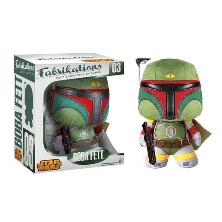 Плюшевая игрушка Звездные войны – Боба Фетт, Star Wars Boba Fett Fabrikations Plush Figure Funko