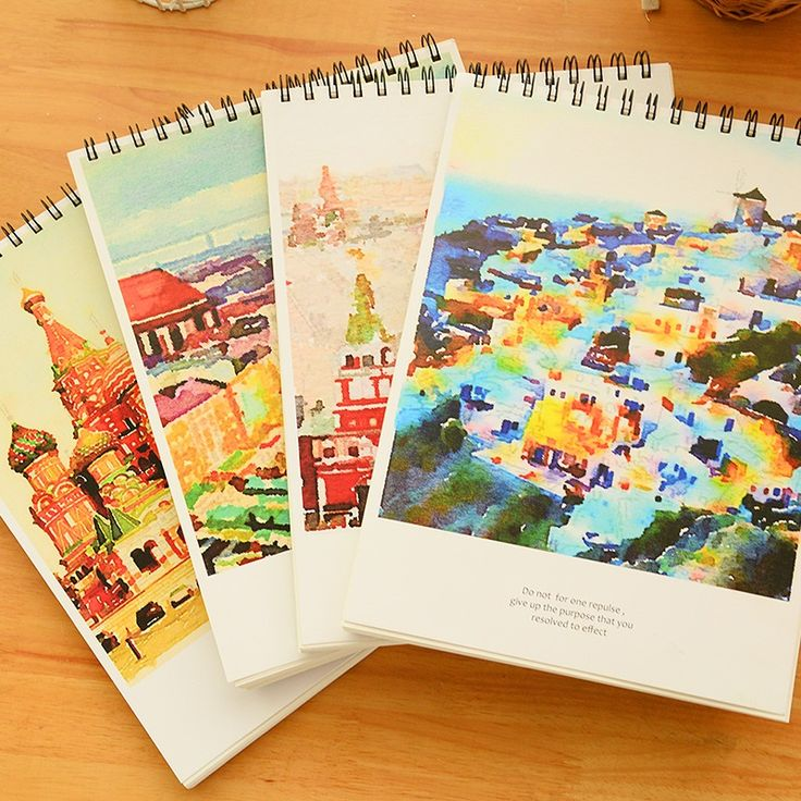 Special Offer City Of Romance A4 Sketchbook Blank Inside Pages Hand-drawn Sketchbook Graffiti Book 1PCS