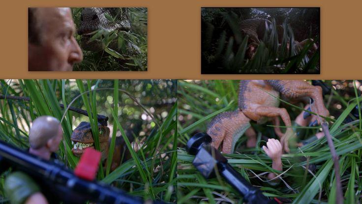 Robert Muldoon sauve Ellie et se fait dévorer par les vélociraptors!!