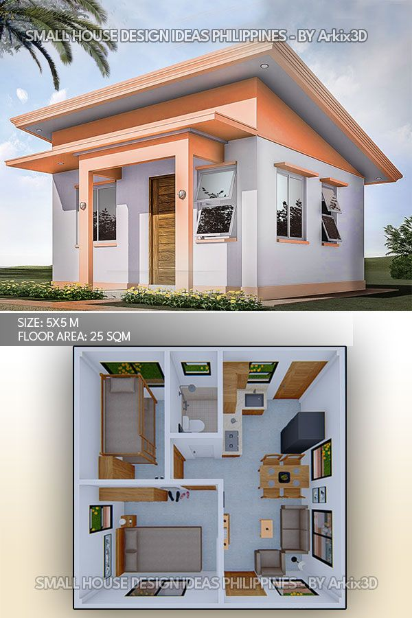 A Simple And Small House Design Idea House Construction Plan Small House Architecture Small House Layout
