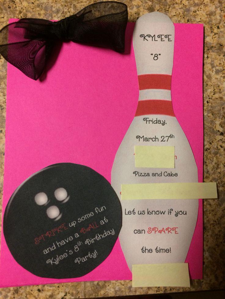 14 best Bowling Birthday - Kobi images on Pinterest Birthday - bowling invitation