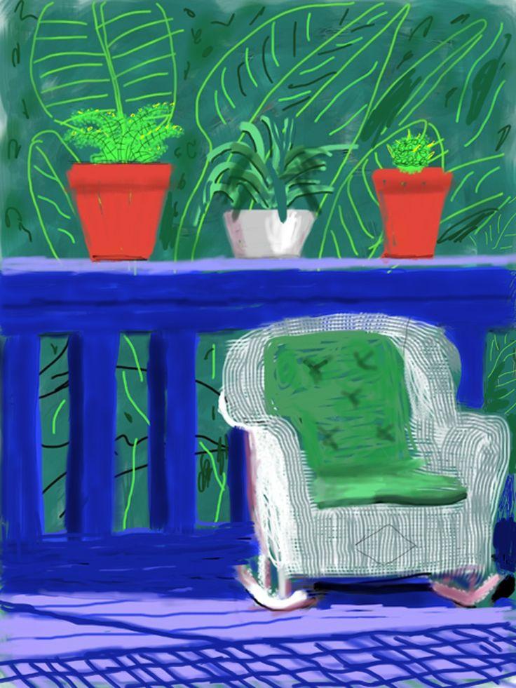 David Hockney on iPad