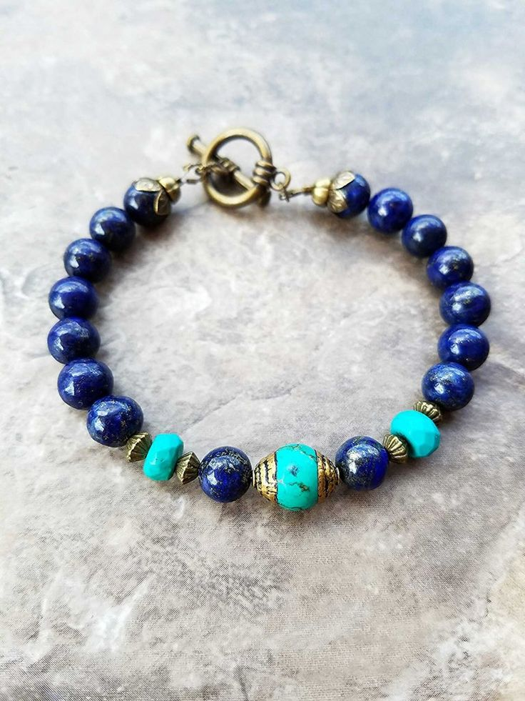 Lapis lazuli and turquoise bracelet                                                                                                                                                                                 More