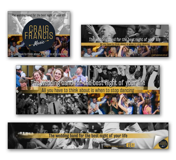 Wedding and Corporate Band  - Creating Social Media Banners and Website Banners which complimented their brand identity