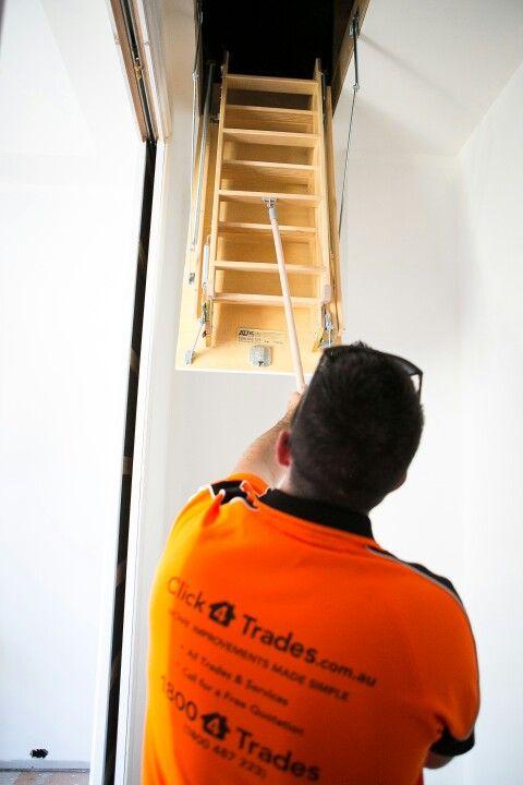 Attic Storage ladders. Click4Trades 1800487233