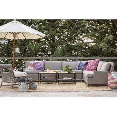 Barbara Barry Outdoor Horizon Modulartail Table With Barbara Barry Outdoor Plateau Sectional And Antalya Outdoor