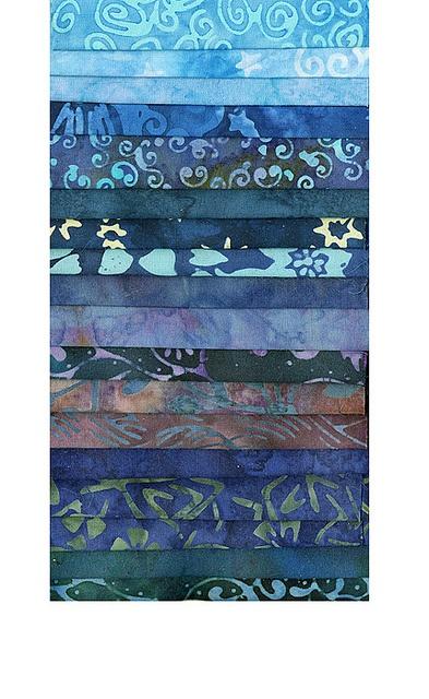 Bali Batik Fabric - Set of 18 Fat Eighths - Blues by PearTreeRoad, via Flickr