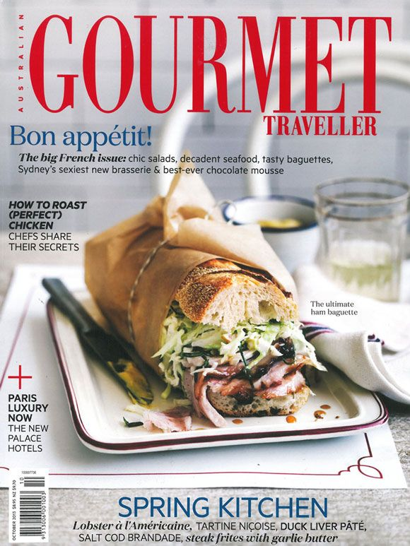 FLIPP | October's Australian Gourmet Traveller cover from our fabulous photographer William Meppem and food stylist Emma Knowles