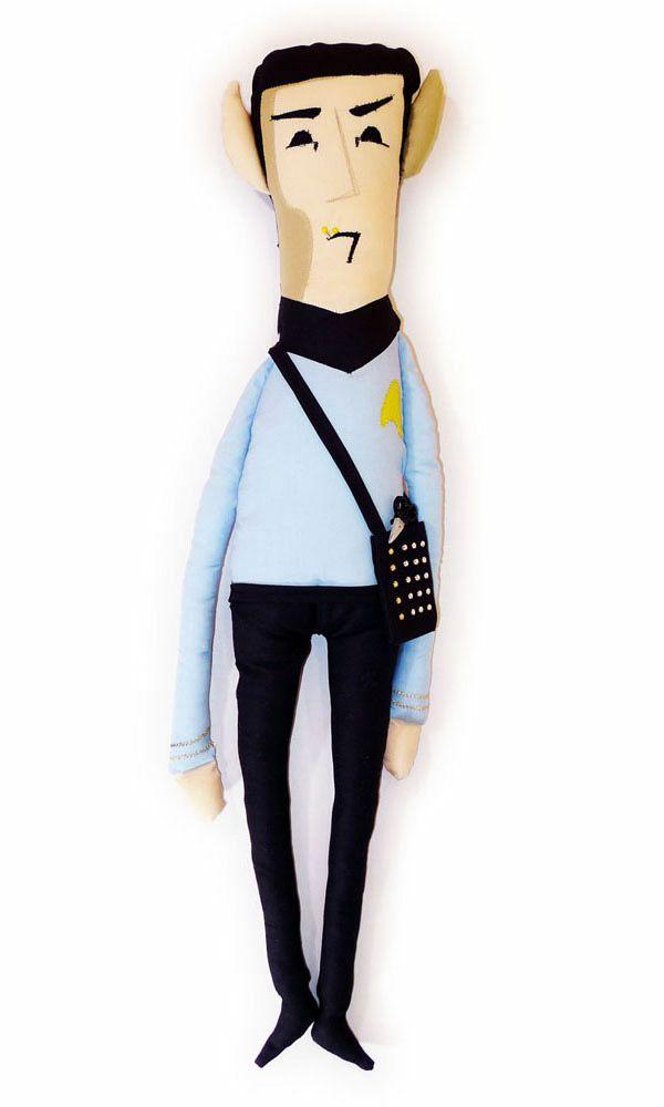 That's Sew Spock, a Cuddly Stuffed Vulcan. omg i want it