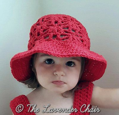Weeping Willow Sun Hat for Baby Infant Child - Free Crochet Pattern - The Lavender Chair