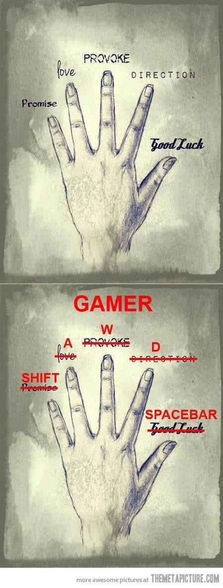 gamer fingers