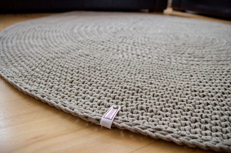 Organic rug, Linen cord crochet rug, raw linen carpet,floor mat,doily rug, grey rug, round rug, natural rug, nursery rug, eco friendly rug - pinned by pin4etsy.com