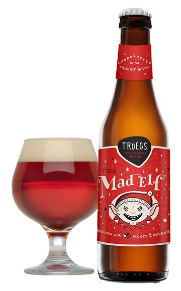 """The holidays at Tröegs start with our inner Mad Elf momentarily taking over the brew deck. So blame """"him"""" for this cheerful ruby red creation reminiscent of ripened cherries, raw honey and cocoa with notes of cinnamon, clove and allspice."""