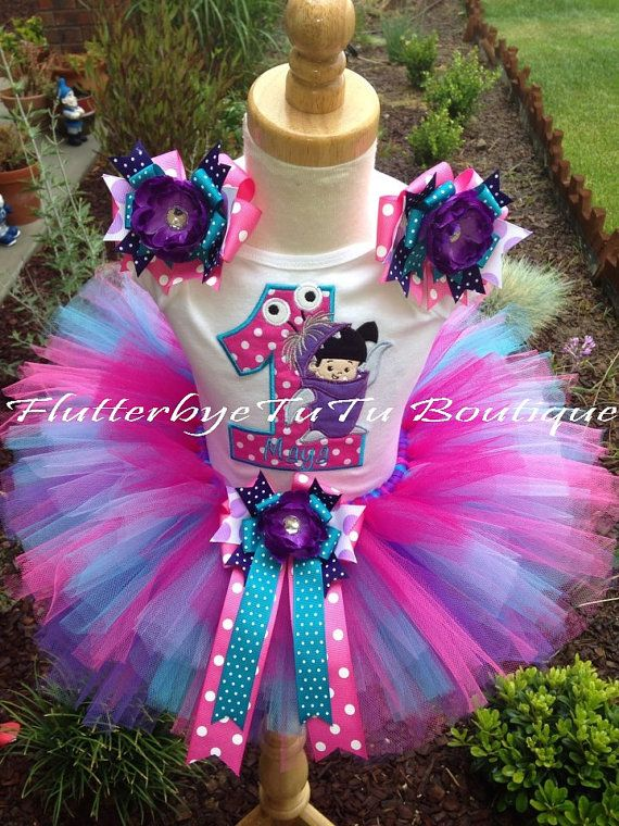 Monster's Inc. BOO Birthday TuTu Set (ages 1-9) By:  Flutter Bye Tutu  http://www.etsy.com/listing/151196606/monsters-inc-boo-birthday-tutu-set-ages?ref=shop_home_active