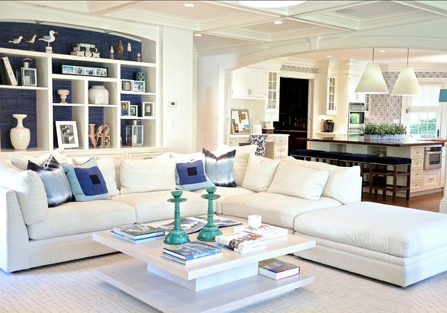 Coastal Interiors. If you love coastal interiors, you will love this living room. #Coastal #Interiors
