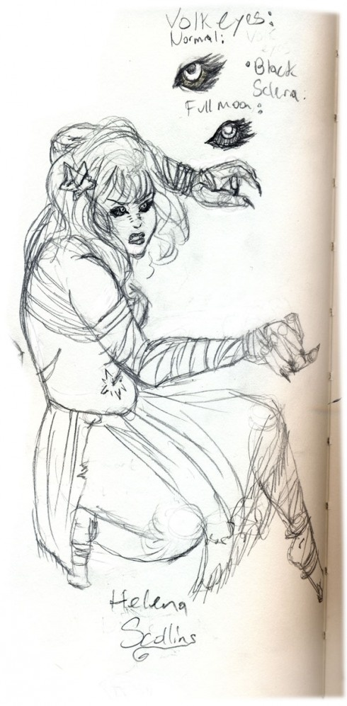 Concept Art of Helena from my current WIP, Dirge.: Illustrations Mondays