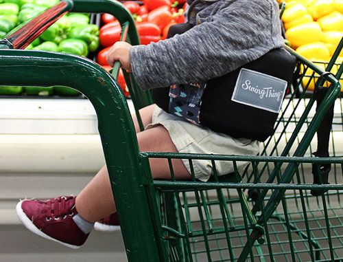 The Swing Thing can also be used in most shopping carts to stabilize your littles. Www.swingthing.ca